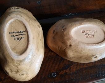 Ed Langbein Potato Bowls ceramic clay art LANGBEIN ED LANGBEIN