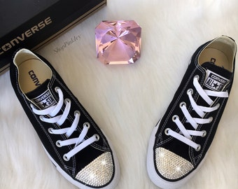 Women's Converse Chuck Taylor Ox Casual Shoes Customized with Swarovski Crystals