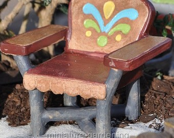 Lakeside Chair, Color Options: Orange for Miniature Garden, Fairy Garden