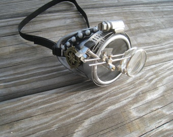 Steampunk Monocle with Key Necklace