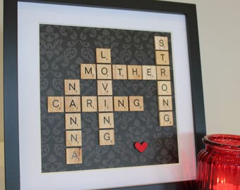 Scrabble Art Frame Mother's Day