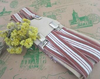 Vintage Suspenders, mens suspenders, striped suspenders, boy wedding, retro suspenders, mens braces, wedding groom, gentlemen accessory