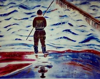 Stormy fishing!