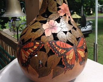 beautiful custom designed gourds. with or without a light.  will do most any design upon request.                I have been doing  request.