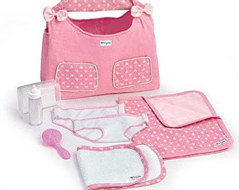 Ashton Drake 15'' baby doll cloths - Baby Doll Diaper Bag Acessory Set / So Truly Mine Accessories