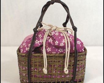 Vintage Kimono Kinchaku (Drawstring) Bag