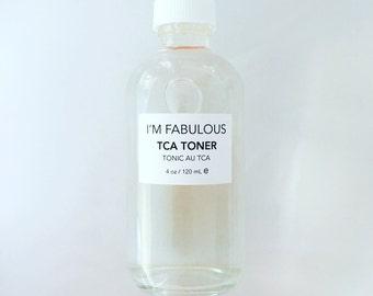 TCA Toner, great for acne, sun damage, scars, wrinkles, fine lines and dull skin