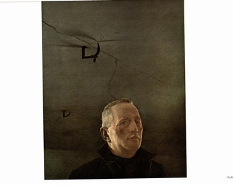 Karl and Log Chain are large prints painted by Andrew Wyeth. the page is approx. 16 1/2 inches wide and 13 inches tall.