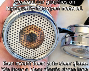 CUSTOM Microperf Lenses for Steampunk Goggles Pair or Single LENSES ONLY