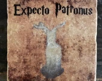 Harry Potter Expecto Patronus Coaster or Decor Accent