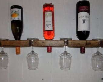 Floating wall wine rack