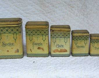 Boxes encased in iron white for sugar, coffee, flour etc. Time 1900