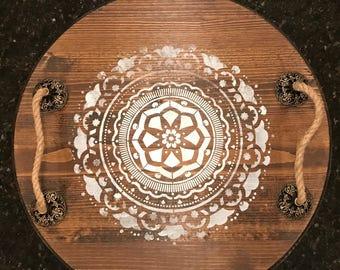 Mandala serving tray
