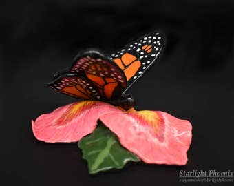 Monarch Butterfly, Butterfly Sculpture, Floral Sculpture, Floral Art, Polymer Clay Sculpture, Clay Art, Clay Sculpture, Buttefly Art