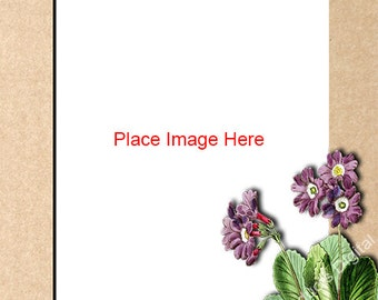 Flower Frame Vertical Template