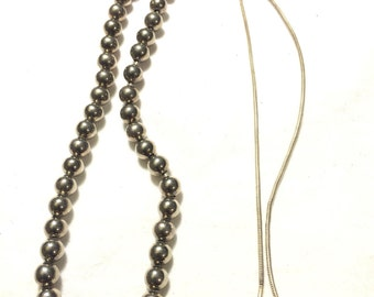 Vintage 925 sterling silver beans necklace