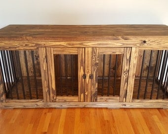 Wood and Metal Dog Kennel!