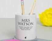 Classic Teachers Pen Pot  personalised desk tidy end of term gift office desk accessories unique teacher gift office decor