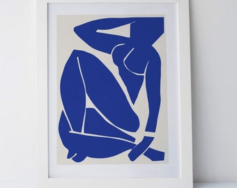 Matisse Giant Poster  - modern Art, art and collectibles, Matisse Poster, Blue
