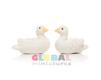 Dollhouse Miniatures Pair of White Duck