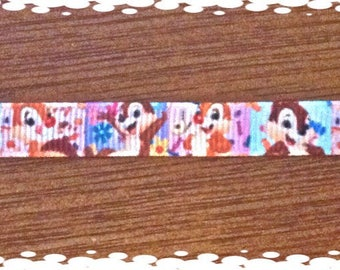 Custom Made 1/2 Inch Wide  Chip and Dale Dog Collar and Matching Leash