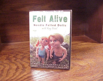 Felt Alive Needle Felted Dolls DVD Video Workshop, with Kay Petal, Disc 1 of 4, new, sealed, Craft Instruction, Dollmaking, Making