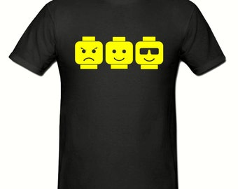 Lego heads t shirt,men's t shirt sizes small- 2xl,men's lego t shirt
