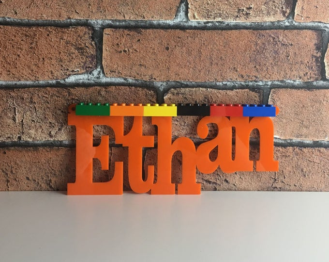Personalised lego door plaque