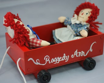 Raggedy Ann/Andy and Little Red Wagon
