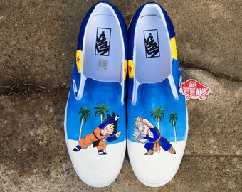 Dragonball Z Version 2 Shoes // Custom Hand-Painted Vans or Standard Shoes //