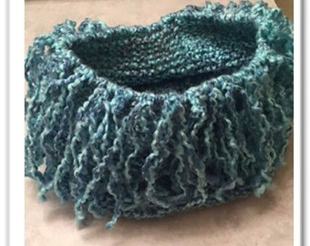 waterfall knit scarf etsy