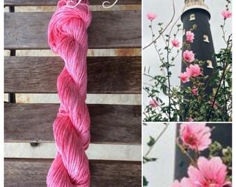 Island Rose hand-dyed cotton yarn