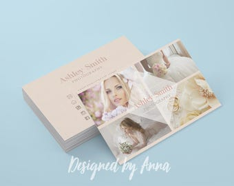 Photographer business card template modern business card design photography instant download photoshop business card printable wedding psd
