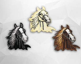 Horse Iron on Patch(L1) - Horse Applique Embroidered Iron on Patch - Size 7.2x8 cm