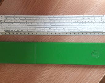 Russian 1976 USSR SOVIET LOGARITHMIC Slide Ruler Measurement line  27 cm