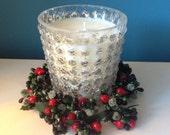Fragranced Candle, Soy Wax, Handmade, Christmas Candle, Festive, Medium Mercury Glass  Designer Bespoke Candle, Jo Malone 250ml