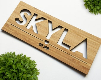 Personalised Name Plaque (Girls)
