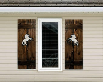 Exterior Wooden Shutters. Diy Wood Shutters Exterior Types Of Board ...