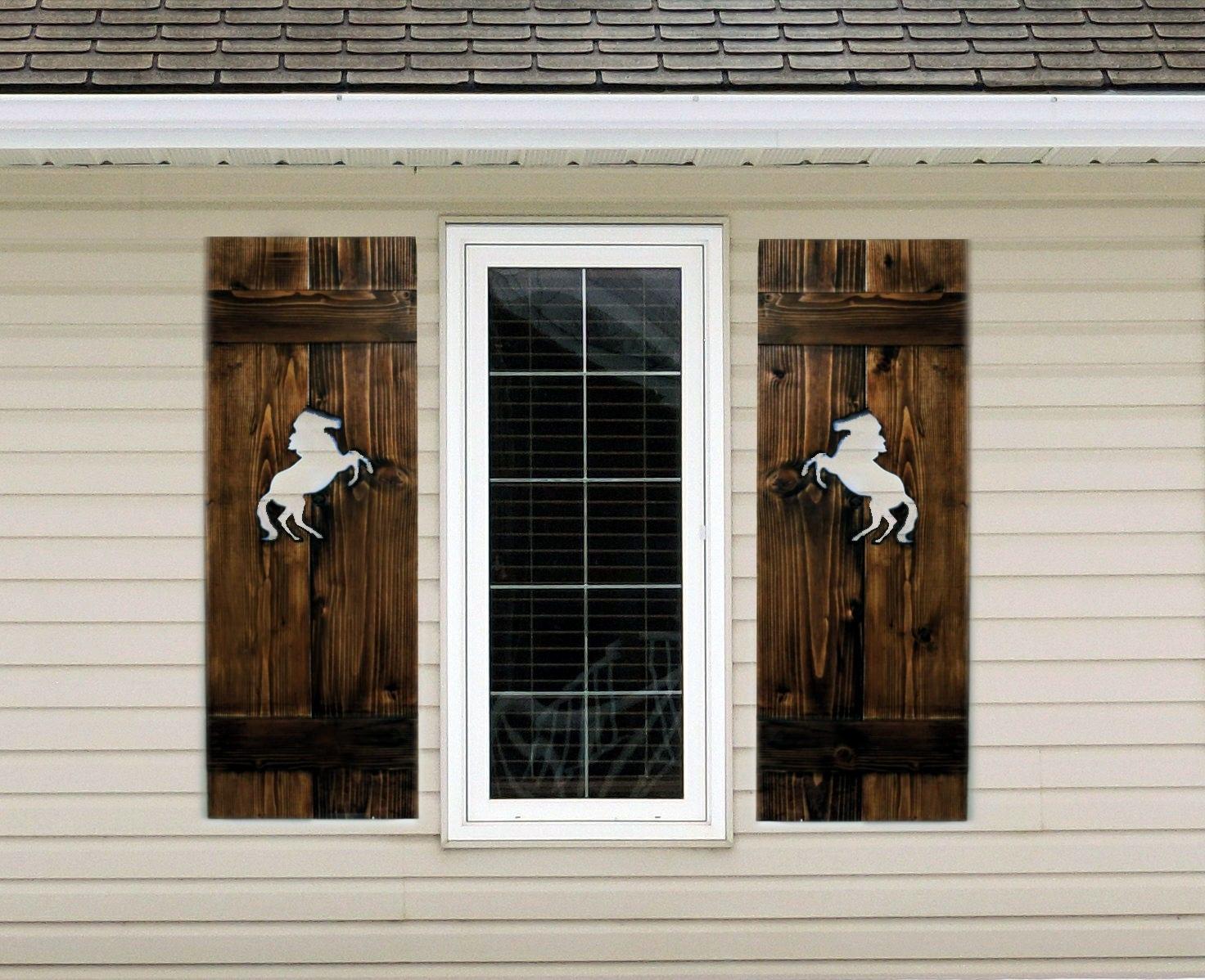 Rustic wood shutter exterior shutters interior shutters for Exterior wood louvers