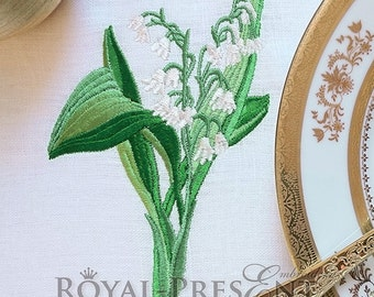 Machine Embroidery Design Lilies of the valley