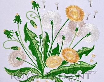 Machine Embroidery Design Beautiful dandelions - 2 sizes