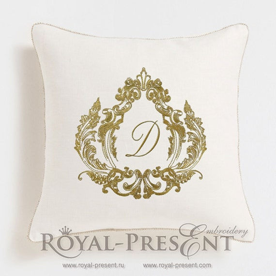 machine embroidery design baroque monogram blank from royalpresentemb on etsy studio. Black Bedroom Furniture Sets. Home Design Ideas