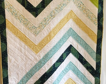 Organic Baby Quilt, Modern Organic Quilt, Baby Quilt, Organic Quilt, Handmade Organic Quilt, Modern Quilt