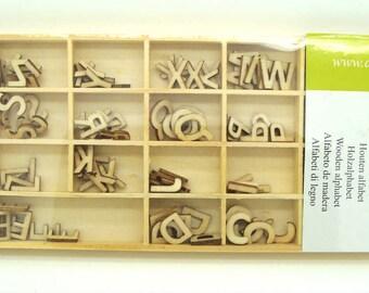 Lettres bois 12mm ou 30mm Alphabet en casier Artemio DIY déco scrapbooking