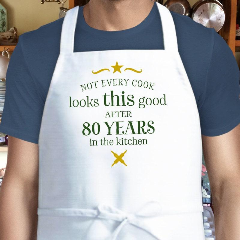 80th Birthday Cooking Gift Custom Apron 80th Birthday Gift
