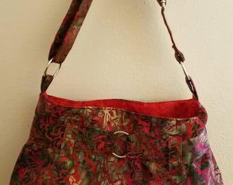 SALE: Steph Handbag, Red adjustable strap purse