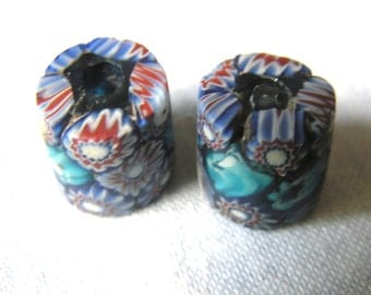 Millefiori African Trade beads - Murano glass