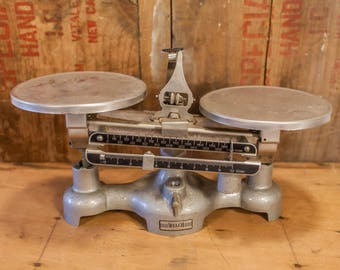 Vintage Welch Scientific Company Metal Laboratory Scale Industrial Balance Lab Scale Apothecary Scale Farmhouse Kitchen scale,