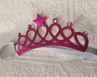 Baby pink crown, princess crown, birthday tiara, pink birthday tiara, princess pink, cake smash tiara, baby princess crown baby pink tiara