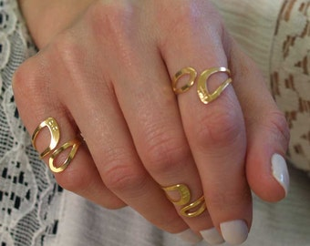 A dainty gold ring of love, with one of 72 names of G-d, Midi ring, Pinky ring, gold filled kabbalah ring